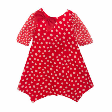 jcpenney.com | Rare Editions Long Sleeve A-Line Dress - Toddler