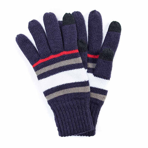 Muk Luks Striped Texting Gloves