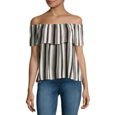 jcpenney.com | Fire Off-the-Shoulder Crepe Top - Juniors