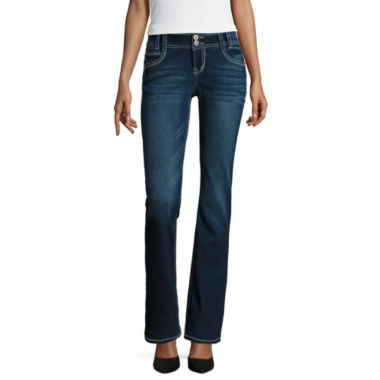 jcpenney.com | Wallflower Curvy-Fit Bootcut Jeans - Juniors