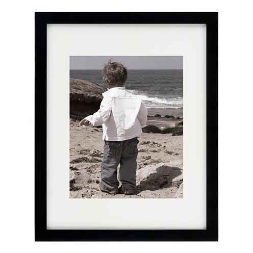 "Artcare 11x14"" Tribecca Matte Black Frame, Matted To 8x10"""