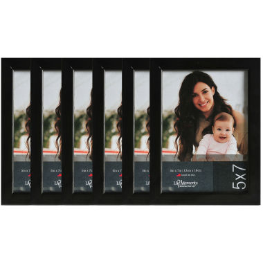 "jcpenney.com | Life Moments 5x7"" Black Wood Frame- Set of 6"""
