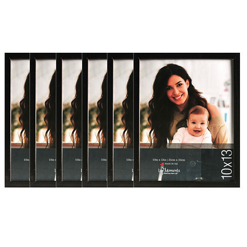 Life Moments 10x13 Black Wood Frame- Set of 6