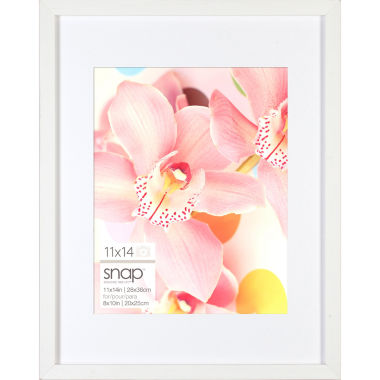 "jcpenney.com | Snap 11x14"" White Wood Frame, Matted To 8x10"""