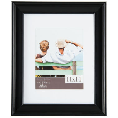 "jcpenney.com | Gallery Solutions 8x10"" Black Slant Frame, Matted To 5x7"""