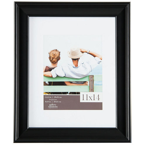 """Gallery Solutions 8x10"""" Black Slant Frame, Matted To 5x7"""""""