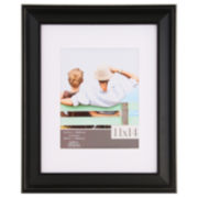 """Gallery Solutions 11x14"""" Black Slant Frame, Matted To 8x10"""""""