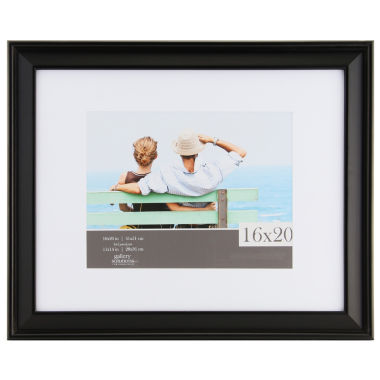 "jcpenney.com | Gallery Solutions 16x20"" Black Slant Frame, Matted To 11x14"""