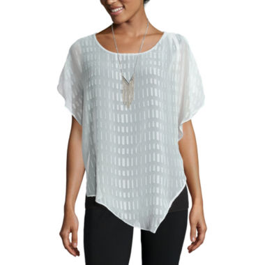 jcpenney.com | Alyx® Short-Sleeve Asymmetrical Popover Top