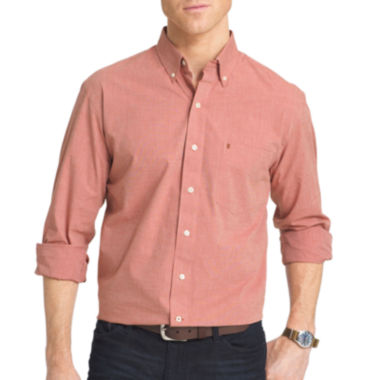 jcpenney.com | IZOD® Long-Sleeve Essential End On End Woven Cotton Poplin Shirt