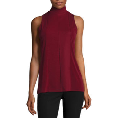 jcpenney.com | Worthington® Sleeveless Seamed Mockneck Top - Tall