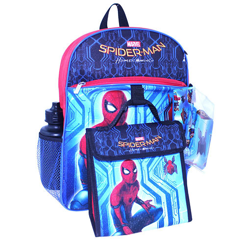 "Spiderman 16"" Backpack 5 Piece Set"