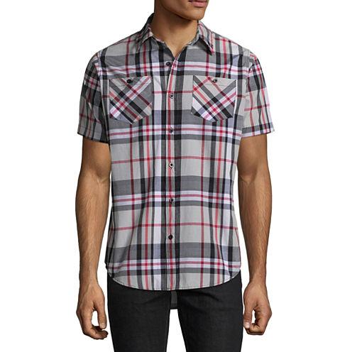 Akademiks Short Sleeve Button-Front Shirt