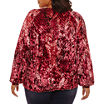 Project Runway Tie Front Velvet Sweatshirt-Plus