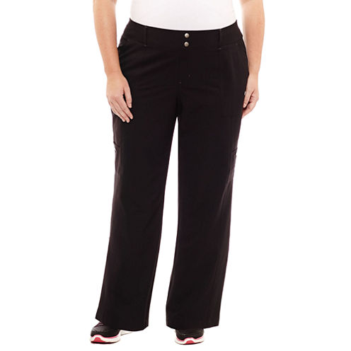 "St. John's Bay Active® Woven Workout Pants-Plus (30"" uncuffed)"