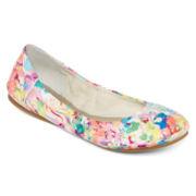 a.n.a® Epic Scrunch Floral Print Ballet Flats