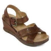 Strictly Comfort Gumpton Wedge Sandals