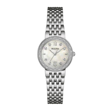 jcpenney.com | Bulova® Diamonds Maiden Lane Womens Diamond-Accent Bracelet Watch 96R203