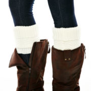 Mixit™ Sherpa-Lined Pebble-Stitch Boot Topper