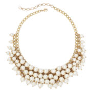 Vieste® Simulated Pearl Gold-Tone Shaky Necklace