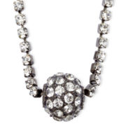 Vieste® Rhinestone and Fireball Silver-Tone Necklace