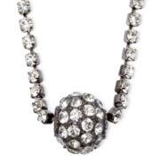 Vieste® Rhinestone and Fireball Silver-Tone Necklace