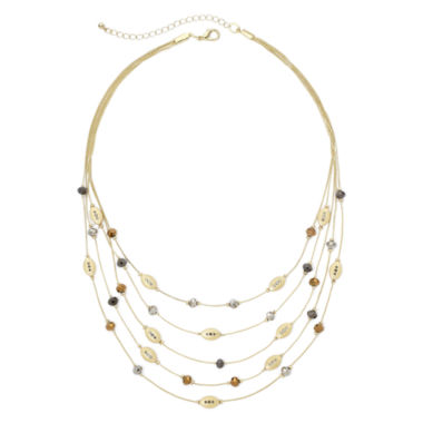 jcpenney.com | Bold Elements™ Gold-Tone Multi-Row Layered Illusion Necklace
