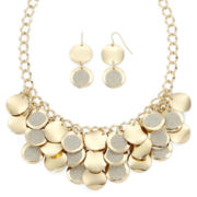Mixit™ Gold-Tone Circle Earring and Shaky Frontal Necklace Set