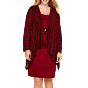 Studio 1® Long-Sleeve Flyaway Jacket Dress - Plus