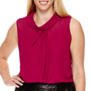 Worthington® Sleeveless Layered Blouse - Plus
