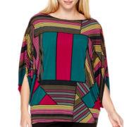 Worthington® Flutter-Sleeve Knit Kimono Blouse - Plus
