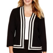 Liz Claiborne® Framed Sweater Jacket - Plus