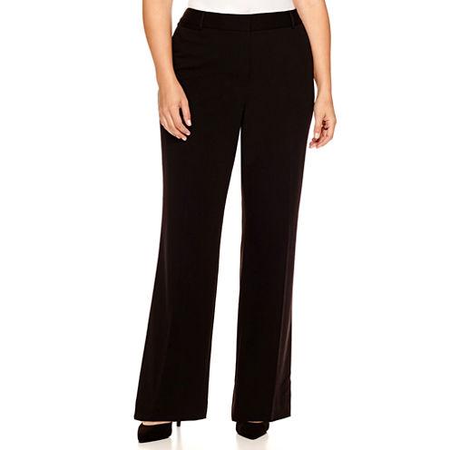 "Liz Claiborne® Curvy Elizabeth Secretly Slender Bootcut Leg Pants-Plus (32.5"")"