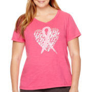 Made For Life™ Short-Sleeve Breast Cancer Awareness T-Shirt - Plus