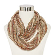 Chevron Pleated Infinity Scarf