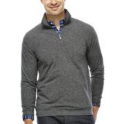 Haggar® Marled Knit Quarter-Zip Pullover