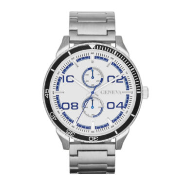 jcpenney.com | Mens Multifunction-Look Silver-Tone Watch