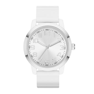 jcpenney.com | Womens Sunray Dial Silicone Strap Watch