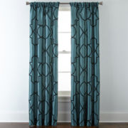 Liz Claiborne® Gallery Scroll Rod-Pocket Curtain Panel