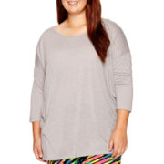 City Streets® 3/4-Sleeve Solid Knit Top - Plus