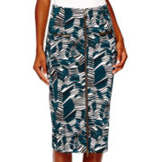 Worthington® High-Waist Zipper-Front Pencil Skirt