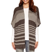 a.n.a® Striped Poncho