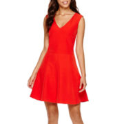 MNG by Mango® V-Neck Skater Dress