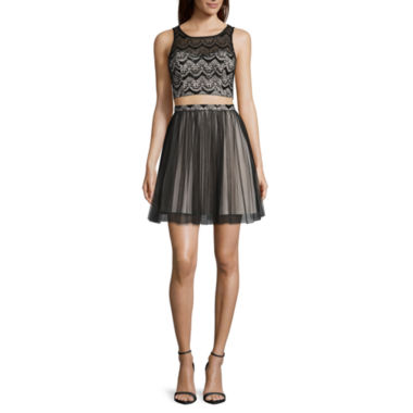 jcpenney.com | My Michelle® 2-pc. Sleeveless Two-Tone Party Dress - Juniors