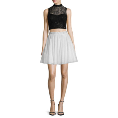 jcpenney.com | City Triangles® Sleeveless Sequin-Lace Two-Piece Party Dress - Juniors