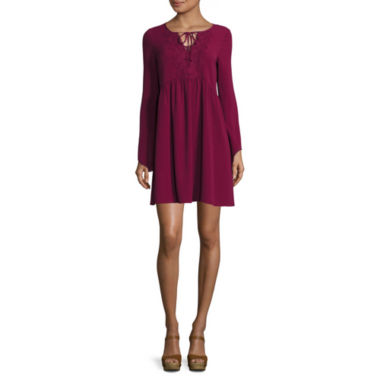 jcpenney.com | My Michelle® Long-Sleeve Tie-Front Dress - Juniors