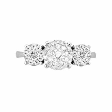 jcpenney.com | LIMITED QUANTITIES! Womens 1/2 CT. T.W. Round White Diamond 14K Gold Engagement Ring