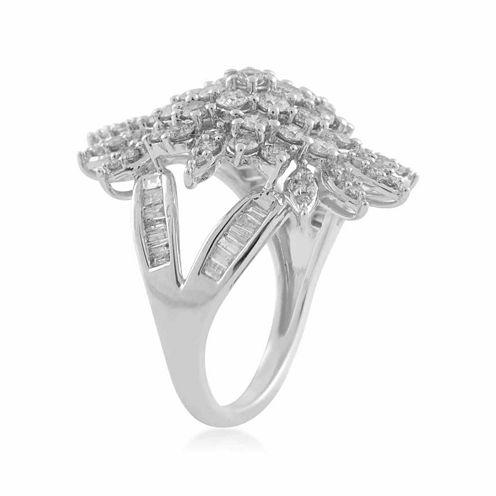 Womens 2 1/2 CT. T.W. White Diamond 10K Gold Cocktail Ring