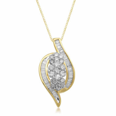 jcpenney.com | Womens 1 CT. T.W. White Diamond 10K Gold Pendant Necklace