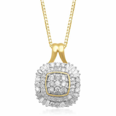 jcpenney.com | Womens 1/2 CT. T.W. White Diamond 10K Gold Pendant Necklace